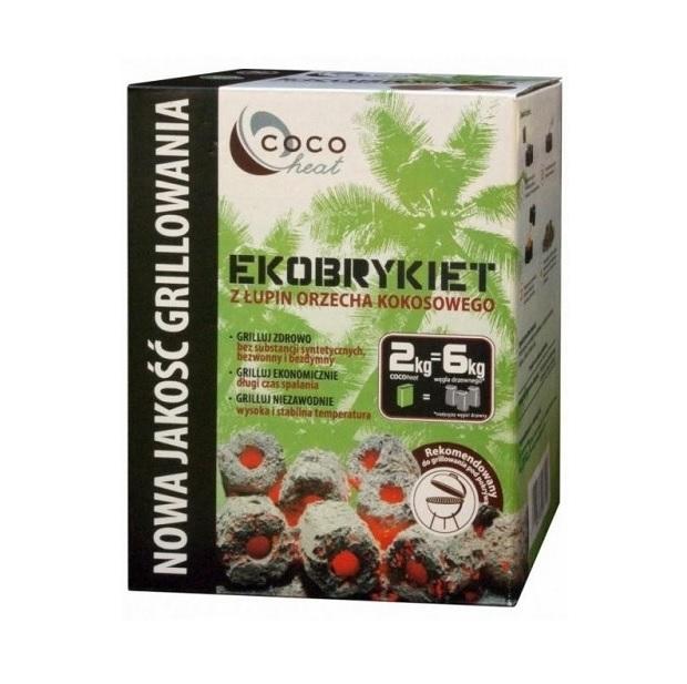 EKOBRYKIET KOKOSOWY COCOHEAT • 2 kg